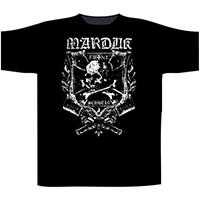 Marduk- Frontshwein Shield on front & back on a black shirt