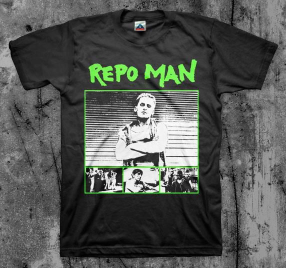 Repo Man- Pics on a black shirt