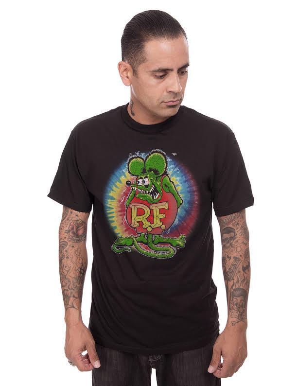 Rat Fink Tye Dye Halo black guys shirt by Steady Clothing