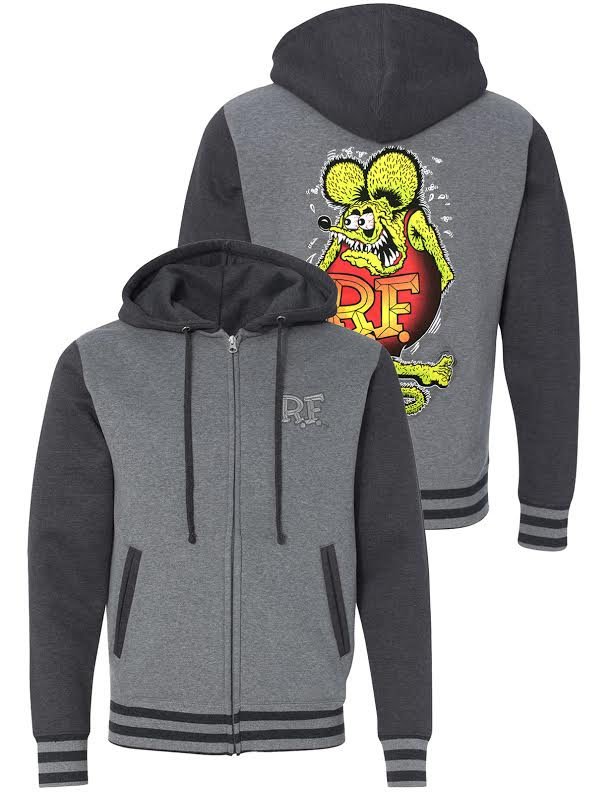 Rat Fink Unisex Varsity Hoodie by Steady Clothing - SALE sz 3X only