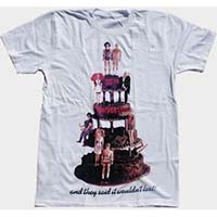 Rocky Horror Picture Show- 35th Anniversary Cake on a white ringspun cotton shirt (Sale price!)