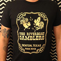 Riverboat Gamblers- Chicken Slam on a black shirt