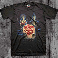 Return Of The Living Dead- Zombies on a black shirt