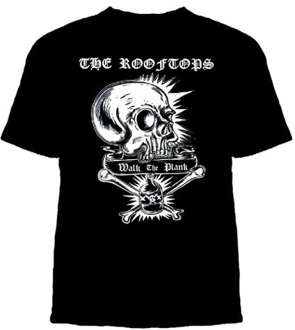 Rooftops- Walk The Plank on a black shirt - SALE sz S only