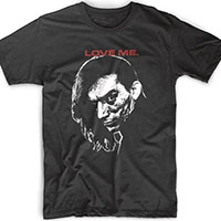 Cramps- Love Me (Bryan Gregory) on a black ringspun cotton shirt by Rock Roll Repeat