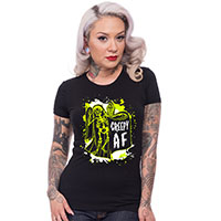 Creepy AF Women's Shirt by Steady Clothing - on black