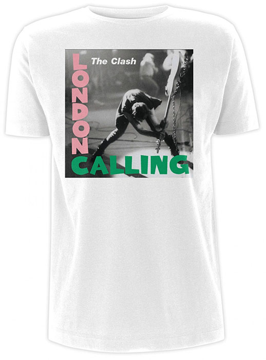 Clash- London Calling on a white ringspun cotton shirt (UK Import!)