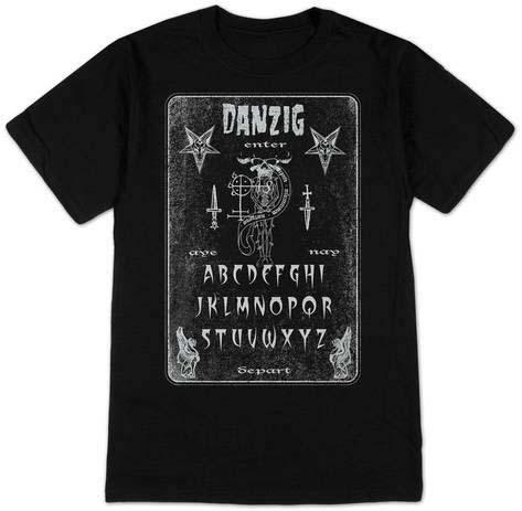 Danzig- Ouija on a black ringspun cotton shirt (UK Import!)