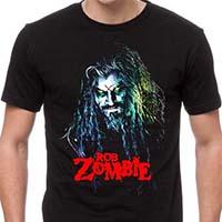 Rob Zombie- Hellbilly Face on a black shirt