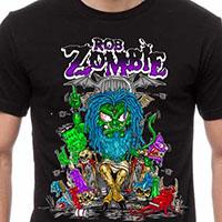 Rob Zombie- Bapho on a black ringspun cotton shirt
