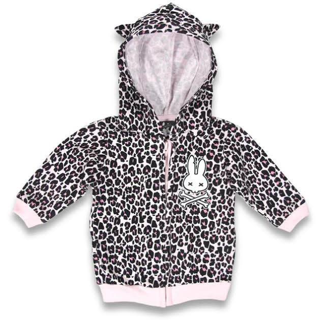 Pink Hooded Leopard Hoodie by Six Bunnies (S:0-3m, M:3-6m, L:6-12m) - SALE sz S only