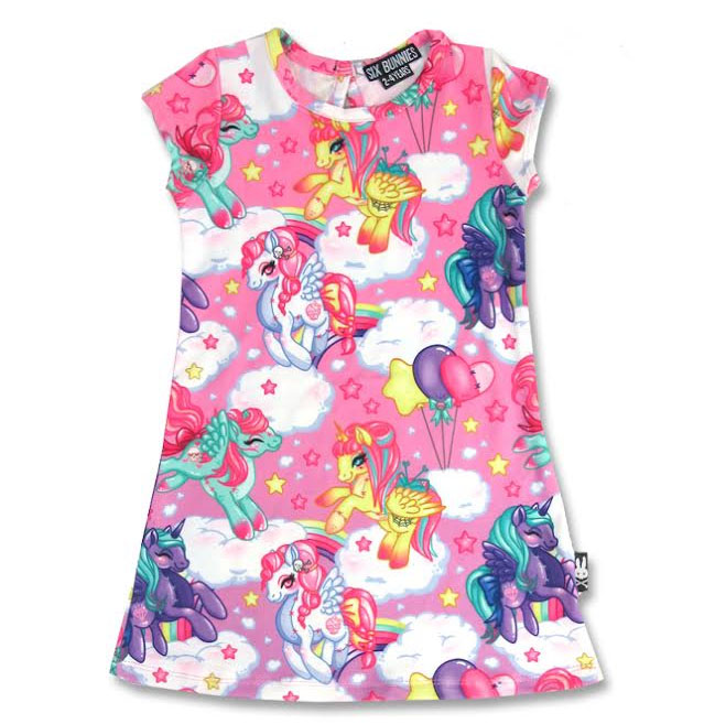 Pegasus Dress by Six Bunnies - 2T, 4T & 6T - in pink
