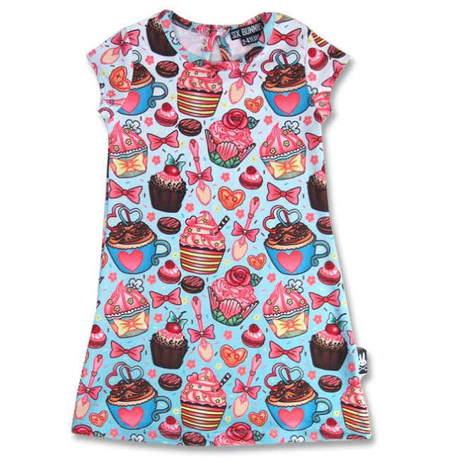 Cupcakes Dress by Six Bunnies - 2T, 4T & 6T