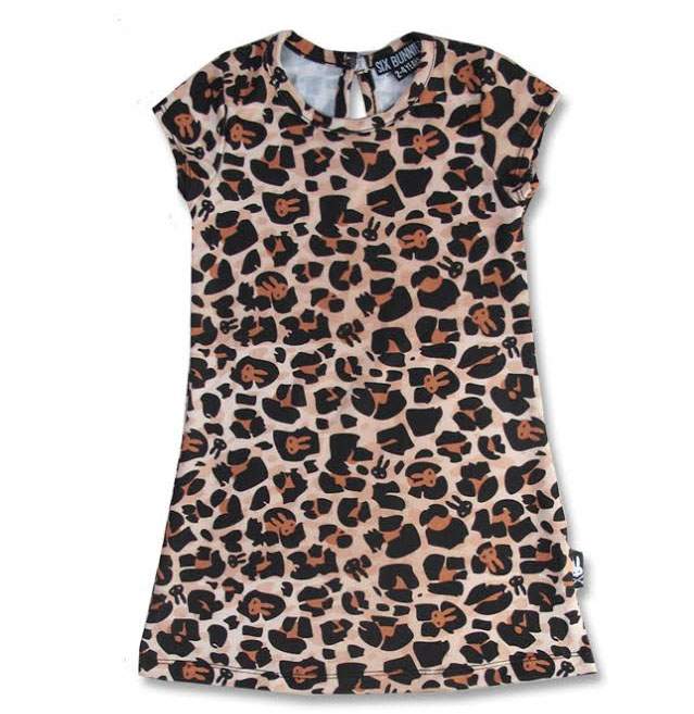 Leopard Bunnies Dress by Six Bunnies - 2T, 4T & 6T - SALE