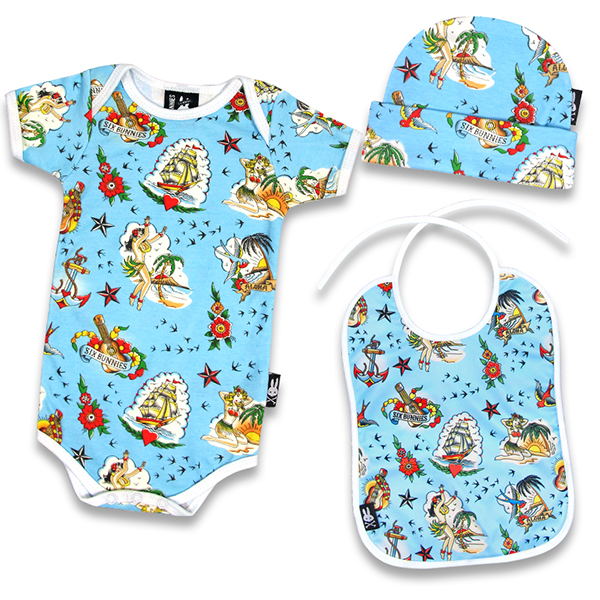 Aloha Sailor Gift Set by Six Bunnies (S:0-3m, M:3-6m, L:6-12m)