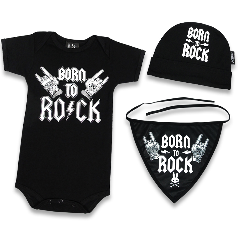 Born to Rock Gift Set by Six Bunnies (S:0-3m, M:3-6m, L:6-12m)