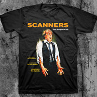 Scanners- Their Thoughts Can Kill on a black ringspun cotton shirt