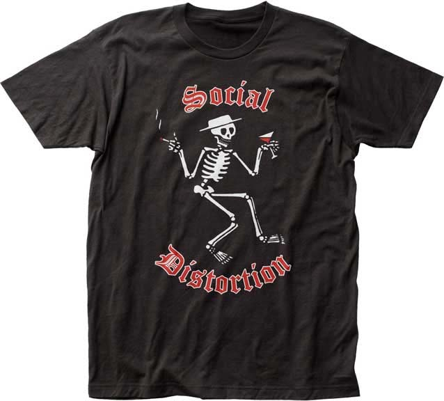 Social Distortion- Skelly Logo on a black ringspun cotton shirt
