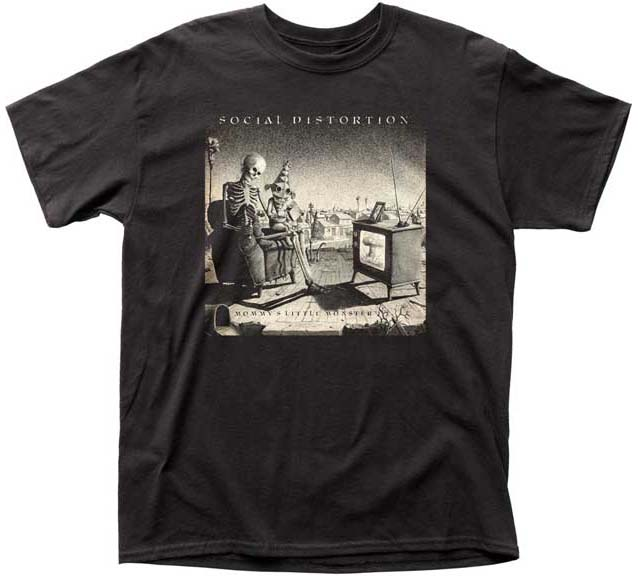 Social Distortion- Mommy's Little Monster on a black shirt