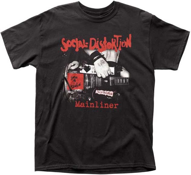 Social Distortion- Mainliner on a black shirt
