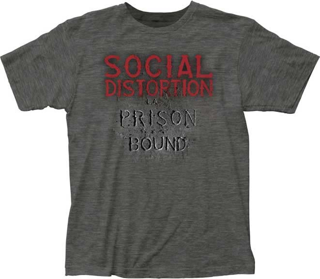 Social Distortion- Prison Bound on a charcoal heather ringspun cotton shirt