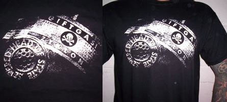 Severed Head Of State- Poison Gas on a black shirt (Sale price!)