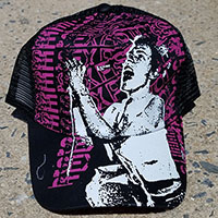 Sex Pistols Johnny Rotten Trucker Hat - black & fuschia