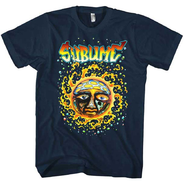Sublime- Sun on a navy ringspun cotton shirt