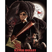 Silver Bullet- Collage on a black shirt
