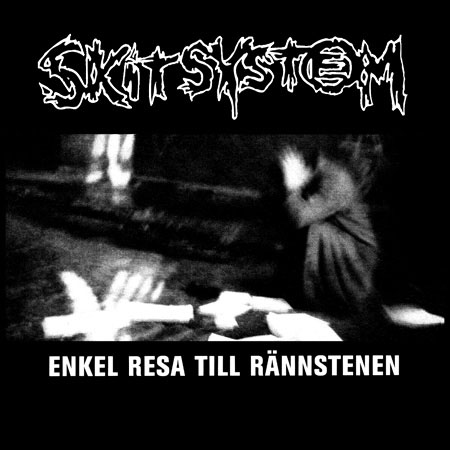 Skitsystem- Enkel Resa Till Rannstenen on a black hooded sweatshirt