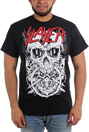 Slayer- Skulltagram on a black shirt (Sale price!)