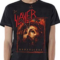 Slayer- Repentless on a black shirt
