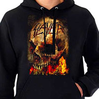 Slayer- Skull on a black hooded sweatshirt