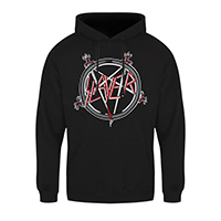 Slayer- Pentagram on a black hooded sweatshirt (Sale price!)