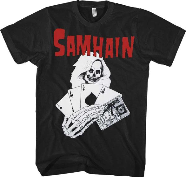 Samhain Death Cards On A Black Shirt