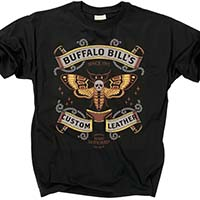 Silence Of The Lambs- Buffalo Bill's Custom Leather on a black shirt