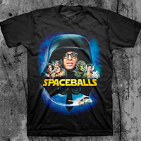 Spaceballs- Cast on a black ringspun cotton shirt