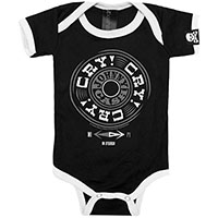 Johnny Cash- Cry Cry Cry on a black/white onesie by Sourpuss(S:0-3m, M:3-6m, L:6-12m, XL:12-18m) - SALE