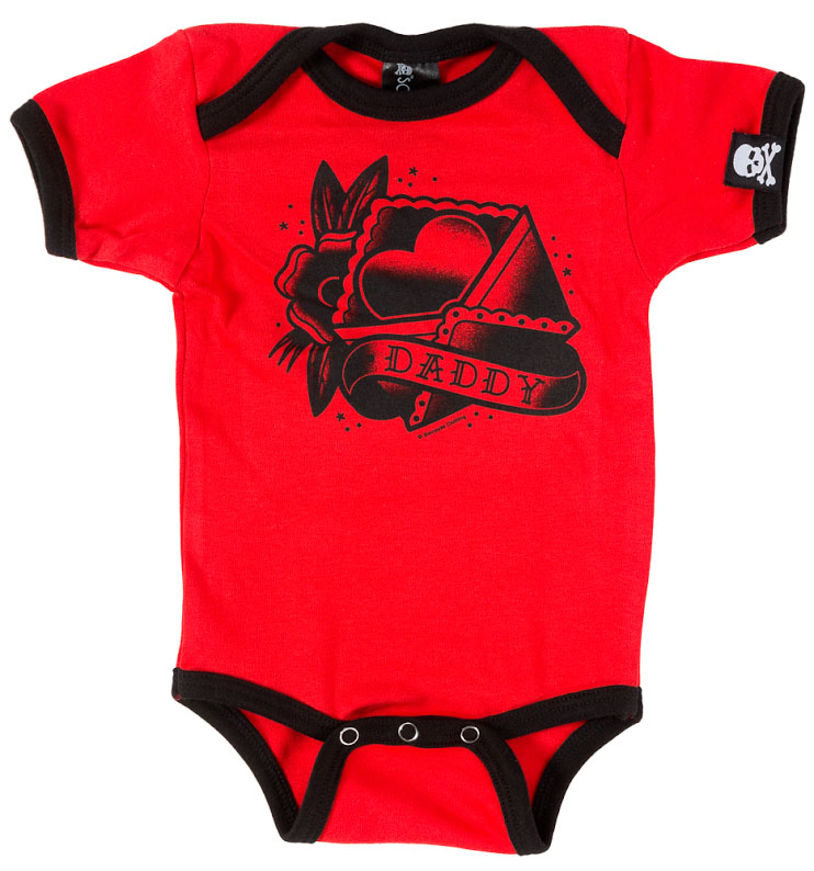 Daddy Heart Onesie by Sourpuss (S:0-3m, M:3-6m, L:6-12m, XL:12-18m) - SALE