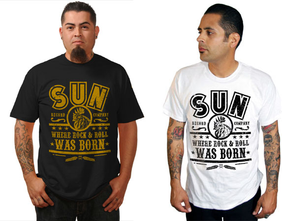 Sun Records- Where Rock N Roll Was Born (Rooster In Circle) shirt by Steady Clothing - SALE