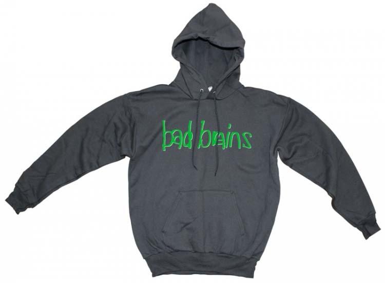 Bad Brains- Green Logo on a black hooded sweatshirt