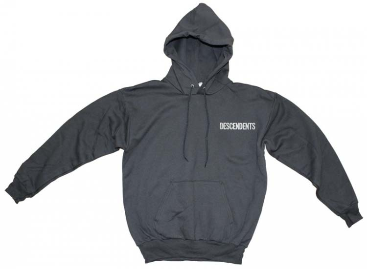 Descendents- Logo Embroidered on a black hooded sweatshirt