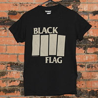 Black Flag- Bars And Logo on a black shirt