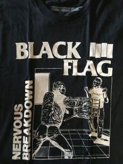 Black Flag- Nervous Breakdown on a black shirt