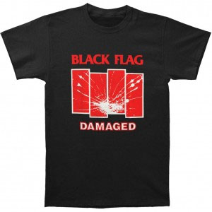 Black Flag- Damaged on a black shirt