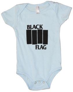 Black Flag- Logo on a light blue onesie (S: 3-6m, M:6-12m, L:12-18m)
