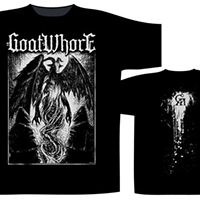 Goatwhore- The Conjuration on front, Splatter on back on a black shirt (UK Import)