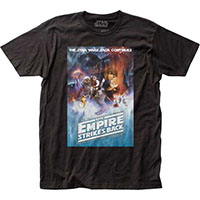 Star Wars- The Empire Strikes Back Movie Poster on a black ringspun cotton shirt