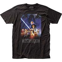 Star Wars- Return Of The Jedi Movie Poster on a black ringspun cotton shirt