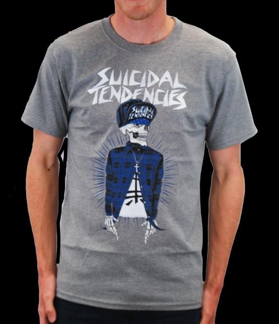 Suicidal Tendencies- OG on front, Logo on back on a grey shirt